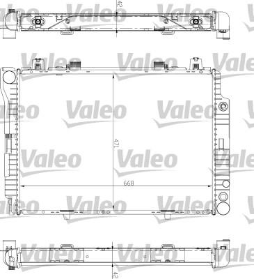 Radiateur de refroidissement VALEO 732447 (X1)