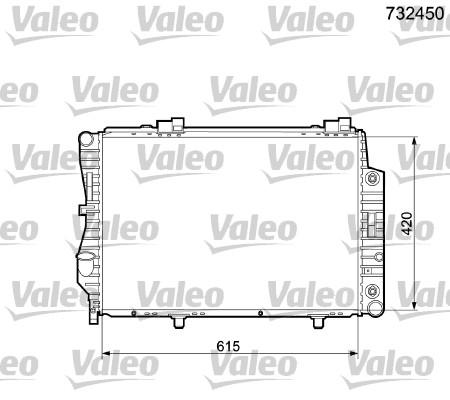 Radiateur de refroidissement VALEO 732450 (X1)