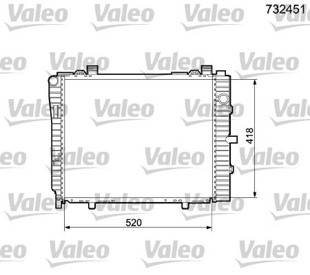 Radiateur de refroidissement VALEO 732451 (X1)