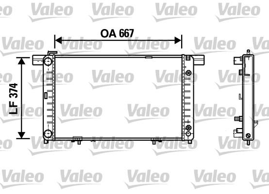 Radiateur de refroidissement VALEO 732454 (X1)