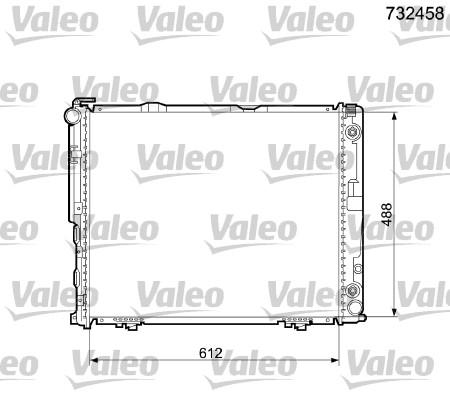 Radiateur de refroidissement VALEO 732458 (X1)