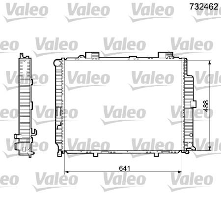 Radiateur de refroidissement VALEO 732462 (X1)