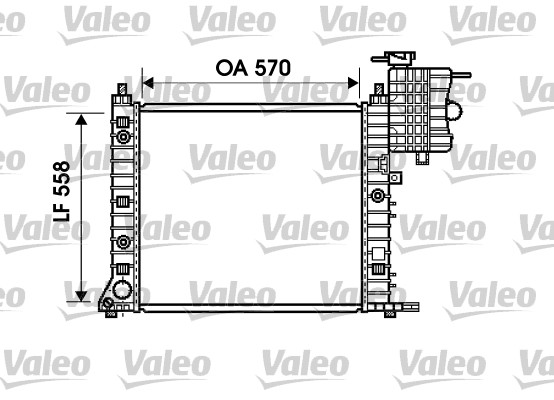 Radiateur de refroidissement VALEO 732471 (X1)