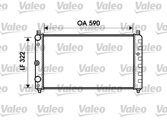 Radiateur de refroidissement VALEO 732479 (X1)