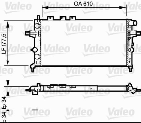 Radiateur de refroidissement VALEO 732550 (X1)