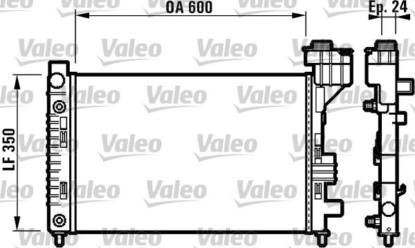 Radiateur de refroidissement VALEO 732587 (X1)