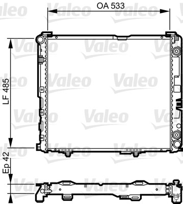 Radiateur de refroidissement VALEO 732591 (X1)