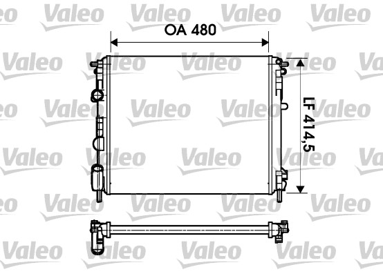 Radiateur de refroidissement VALEO 732621 (X1)