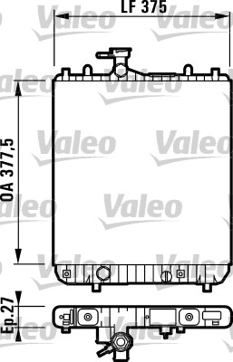 Radiateur de refroidissement VALEO 732719 (X1)