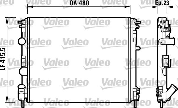 Radiateur de refroidissement VALEO 732721 (X1)