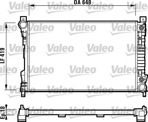 Radiateur de refroidissement VALEO 732740 (X1)