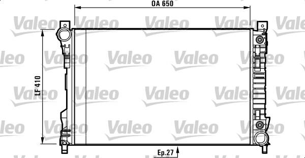 Radiateur de refroidissement VALEO 732741 (X1)