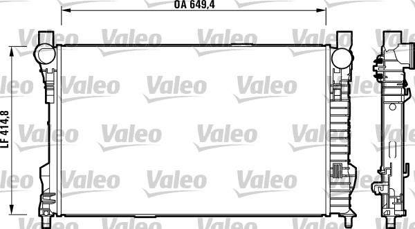 Radiateur de refroidissement VALEO 732742 (X1)