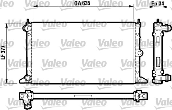 Radiateur de refroidissement VALEO 732790 (X1)