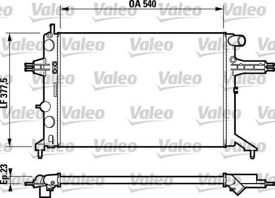 Radiateur de refroidissement VALEO 732795 (X1)