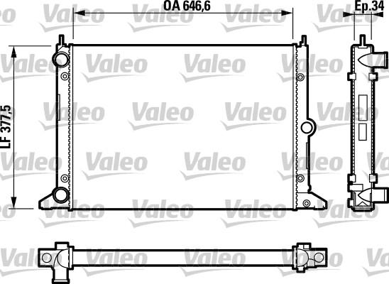 Radiateur de refroidissement VALEO 732797 (X1)