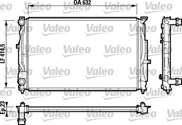Radiateur de refroidissement VALEO 732811 (X1)