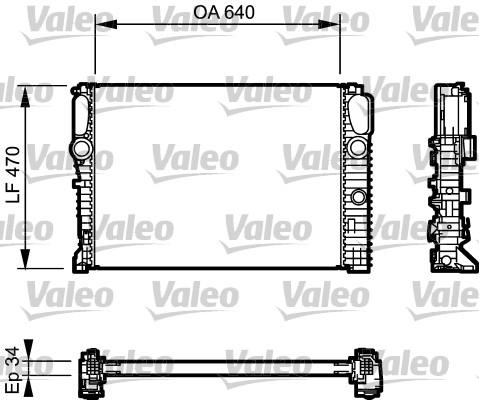 Radiateur de refroidissement VALEO 732849 (X1)