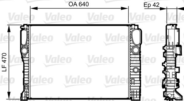 Radiateur de refroidissement VALEO 732855 (X1)