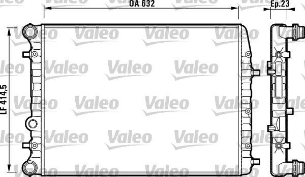 Radiateur de refroidissement VALEO 732862 (X1)