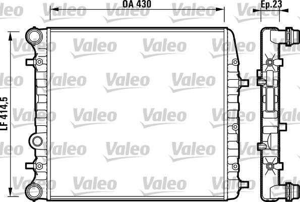 Radiateur de refroidissement VALEO 732863 (X1)