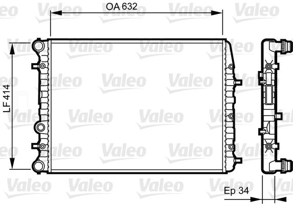 Radiateur de refroidissement VALEO 732864 (X1)