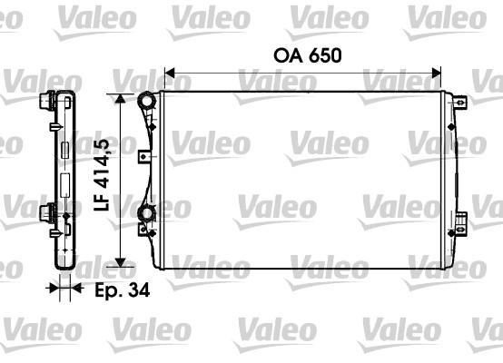 Radiateur de refroidissement VALEO 732872 (X1)