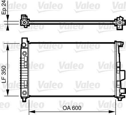 Radiateur de refroidissement VALEO 732897 (X1)