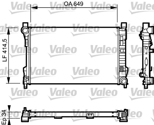 Radiateur de refroidissement VALEO 732900 (X1)