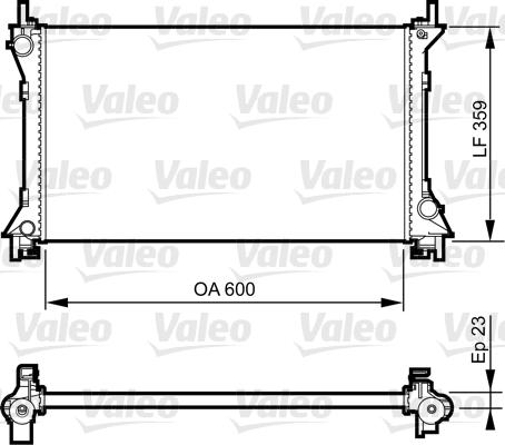 Radiateur de refroidissement VALEO 732962 (X1)