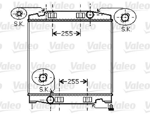 Radiateur de refroidissement VALEO 733411 (X1)