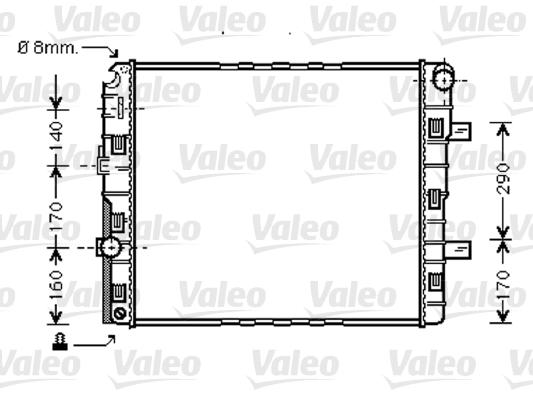 Radiateur de refroidissement VALEO 733422 (X1)