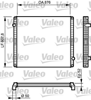 Radiateur de refroidissement VALEO 733503 (X1)