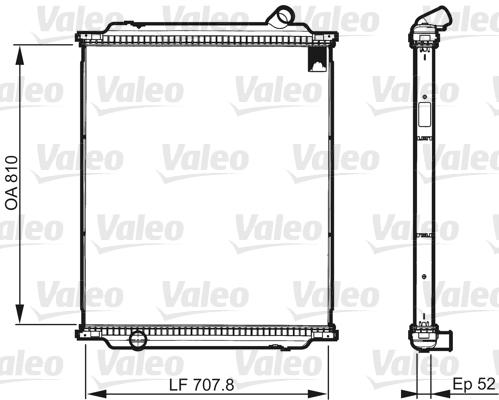 Radiateur de refroidissement VALEO 733518 (X1)