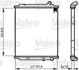 Radiateur de refroidissement VALEO 733525 (X1)