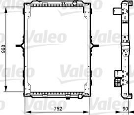 Radiateur de refroidissement VALEO 733547 (X1)