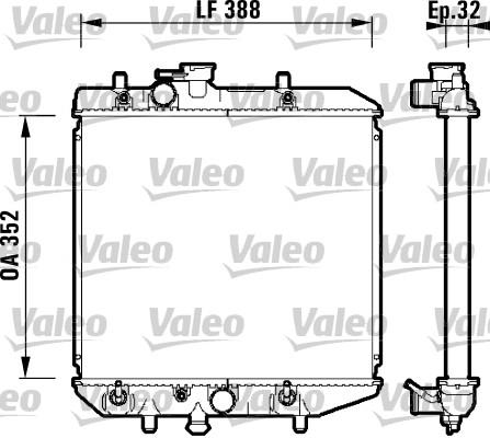 Radiateur de refroidissement VALEO 734104 (X1)