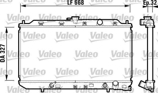 Radiateur de refroidissement VALEO 734111 (X1)