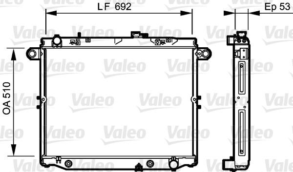 Radiateur de refroidissement VALEO 734192 (X1)