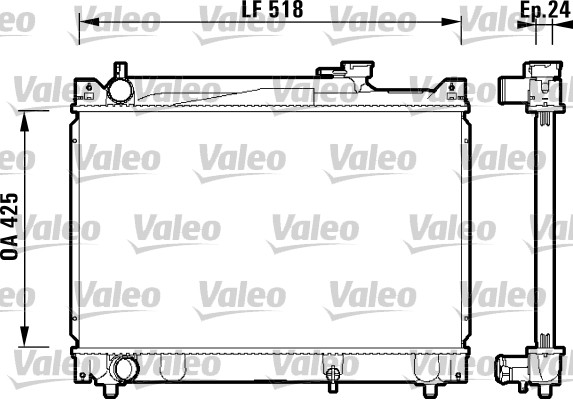 Radiateur de refroidissement VALEO 734213 (X1)