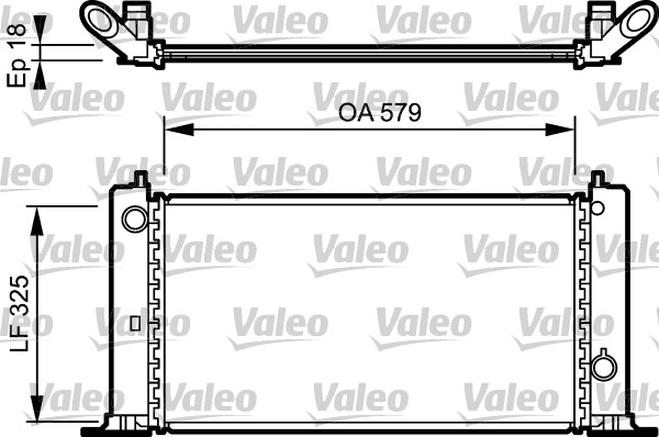 Radiateur de refroidissement VALEO 734228 (X1)