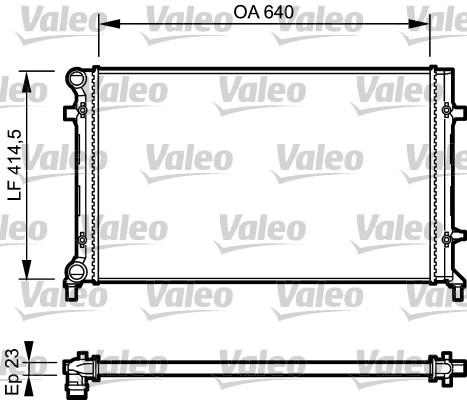 Radiateur de refroidissement VALEO 734332 (X1)