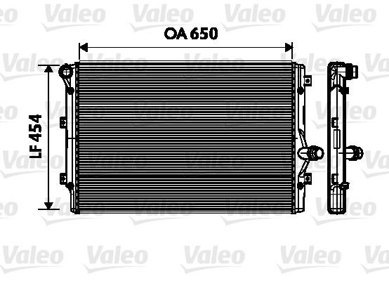 Radiateur de refroidissement VALEO 734333 (X1)