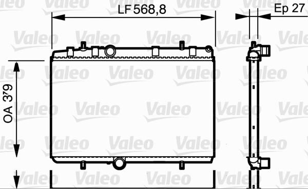 Radiateur de refroidissement VALEO 734338 (X1)