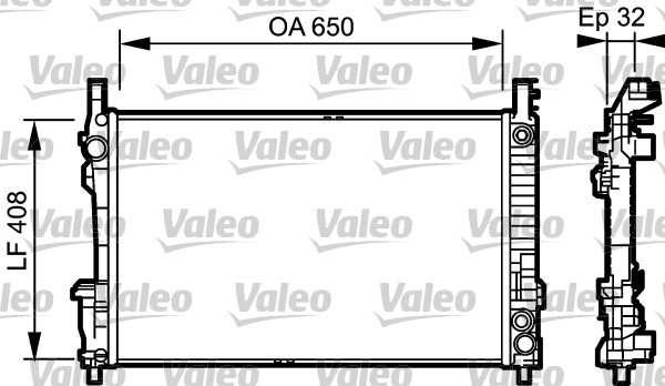 Radiateur de refroidissement VALEO 734379 (X1)