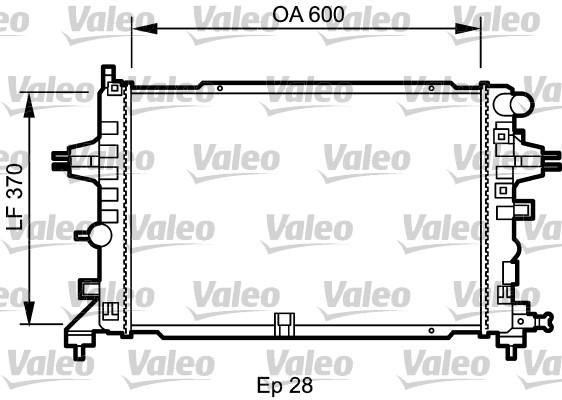 Radiateur de refroidissement VALEO 734432 (X1)