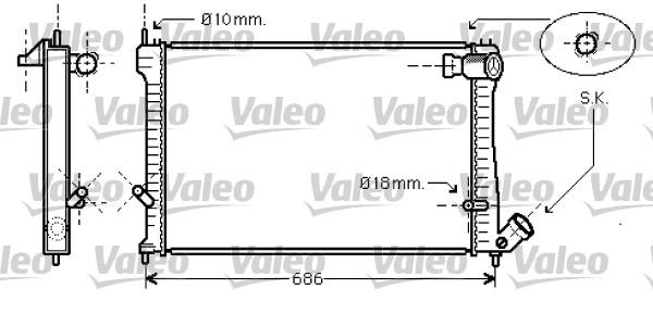 Radiateur de refroidissement VALEO 734455 (X1)