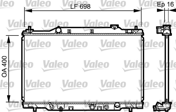 Radiateur de refroidissement VALEO 734478 (X1)