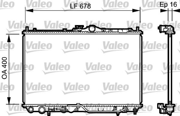 Radiateur de refroidissement VALEO 734480 (X1)