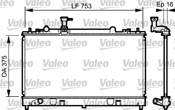 Radiateur de refroidissement VALEO 734484 (X1)